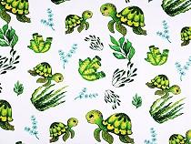 Bavlněná látka želva