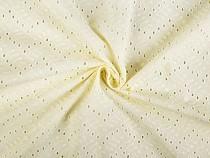 Haft angielski bawełniany metraż kwiatuszki