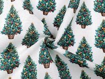 Tkanina dekoracyjna Loneta drzewko świąteczne