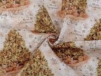 Dekorstoff Loneta Weihnachtsbaum