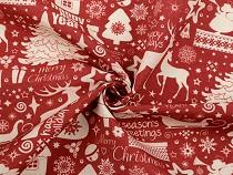 Dekorstoff Loneta Weihnachtsmotive