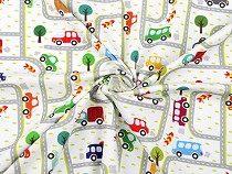 Cotton Jersey Fabric with Digital Printing Cars