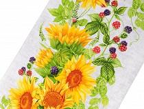 Pika waflowa bawełniana - słoneczniki