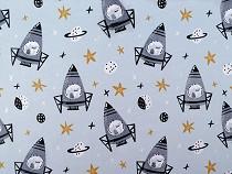 Cotton Fabric Rocket