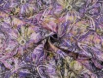 Dekorační látka Loneta abstraktní květy
