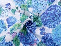Dekorační látka Loneta hortenzie