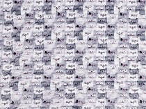 Minky Plush Fabric with 3D Dots Cats