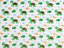 Minky mit 3D-Punkten Schildkröte