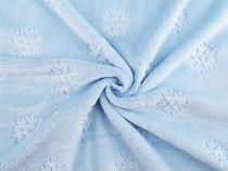 Tkanina Minky gładka / plusz  płatki śniegu