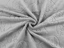 Tkanina Minky gładka / plusz słoń