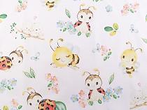 Cotton Fabric Ladybug, Bee