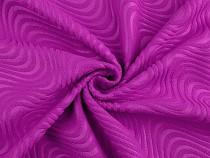 Polarfleece mit geprägtem abstrakten Muster