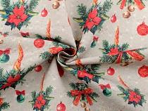 Dekorációs szövet Loneta karácsonyi