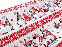 Bavlněné vaflové piké vánoční skřítek