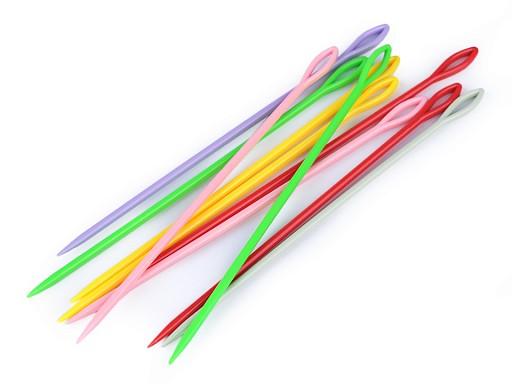 Plastové jehly délka 15 cm tupé