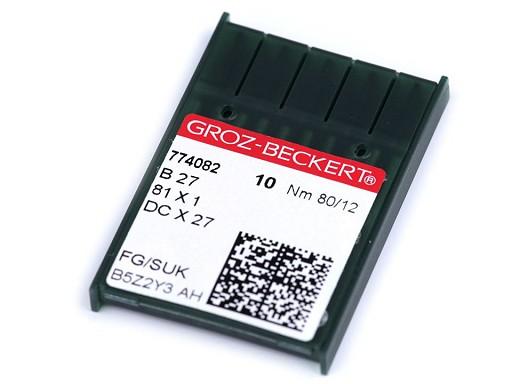 Strojové ihly Groz - Beckert B27 80; 90 pre overlocky / na priemyselné šijacie stroje