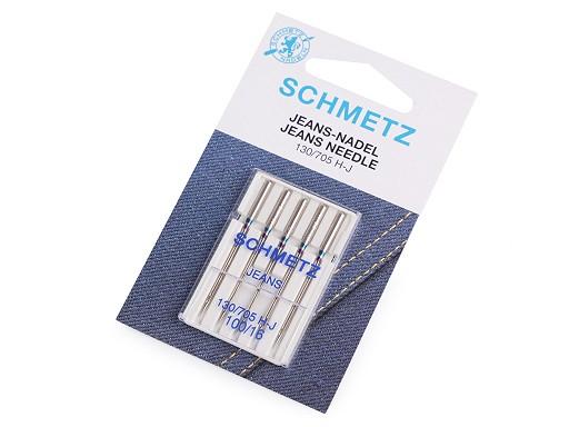 Strojové ihly Jeans 90; 100; 110 nadružené Schmetz na karte