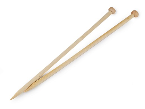 Rovné jehlice č. 10 bambus