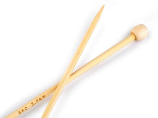 Rovné jehlice č. 3; 3,5; 4 bambus