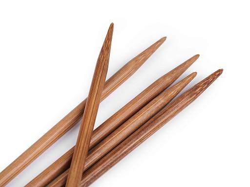 Bambusové ponožkové jehlice č. 2,5; 3; 3,5; 4,5 Pony
