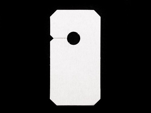 Paper tags for zippers 30x57mm