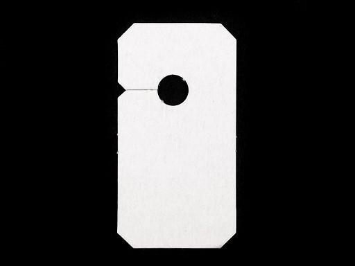 Závesky na zipsy 30x57mm papierové