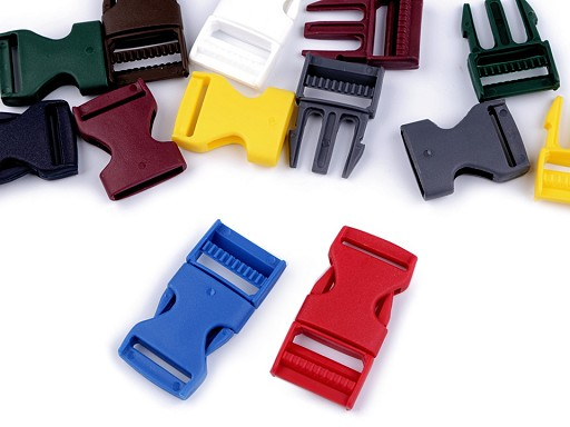 Side release buckle BB with strap adjuster width 25 mm