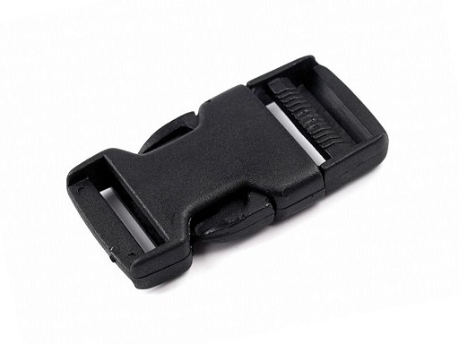 Side release buckle with strap adjuster, inner width 25mm