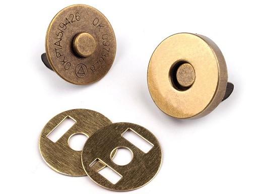 Magnetverschluss  Ø18 mm altmessing