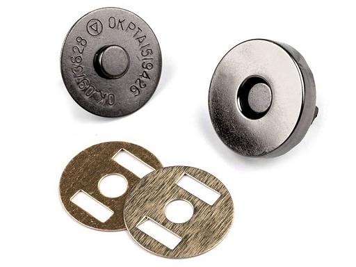 Magnetické zapínání Ø18 mm černý nikl