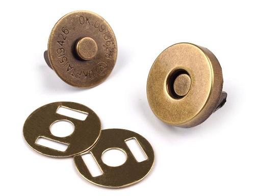Zapínanie magnet Ø14 mm staromosadz