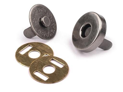Mágneses kapocs Ø14 mm nikkel antik