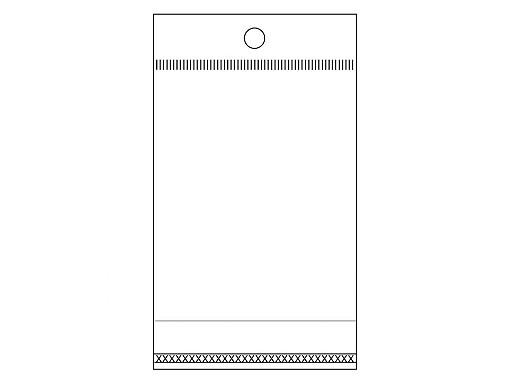 Cellophanbeutel mit Klebestreifen zum Aufhängen 6x10,5 cm