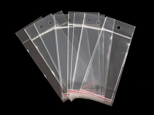 Torebki foliowe z paskiem klejącym i zawieszką 6x10,5 cm