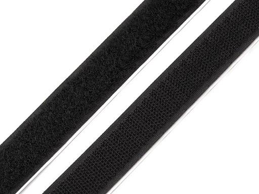 Suchý zip háček + plyš samolepicí šíře 20 mm černý