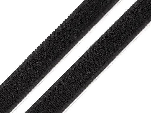 Suchý zips háčik  samolepiaci šírka 20 mm čierny