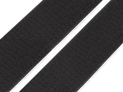 Taśma rzep samoprzylepna, czarna szer. 50 mm haczyk