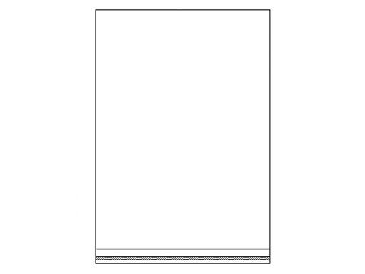 Torby foliowe z taśmą klejącą 20x29 cm