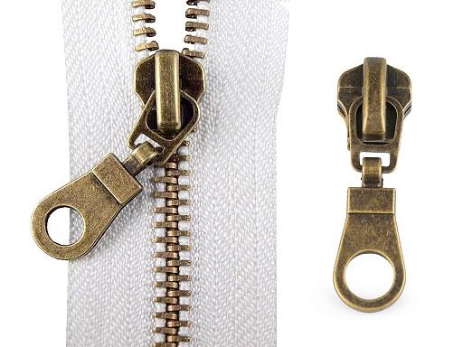 Slider for Metal Antique Brass Zippers 6 mm