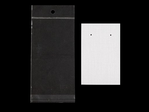 Karta na náušnice s visačkou a sáčkem 50x80 mm