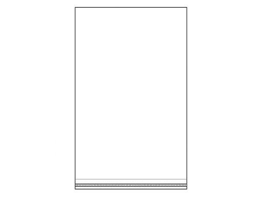 Cellophanbeutel mit Klebestreifen 24x39 cm