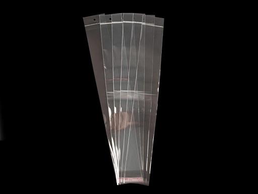 Celofánové sáčky s lepicí lištou a závěsem 7x45 cm