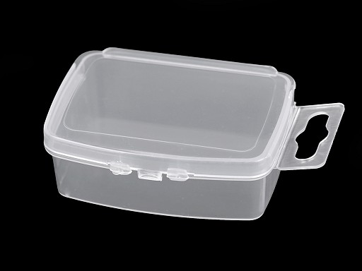 Plastic Box for Beads 3.5x5x2 cm with euro slot