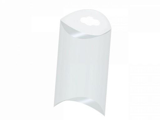 Pudełko plastikowe z zawieszką 5,5x8,5 cm