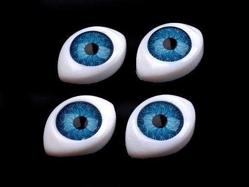 Oczy do zabawek  12x17mm wysokość 6mm