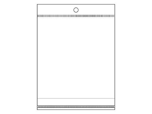 Celofánové sáčky s lepicí lištou a závěsem 13x14 cm
