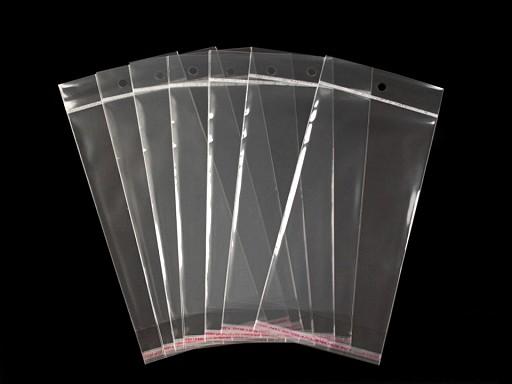 Torebki foliowe z paskiem klejącym i zawieszką 11x20 cm