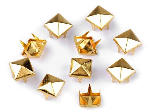 Cvočky na oblečení 7x7mm pyramida