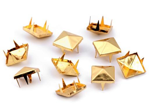 Cvočky na oblečení 12x12mm pyramida