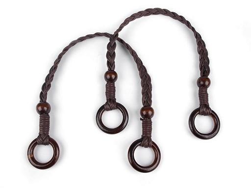 Rúčky na tašky preplietané dĺžka 48-50 cm s krúžkami